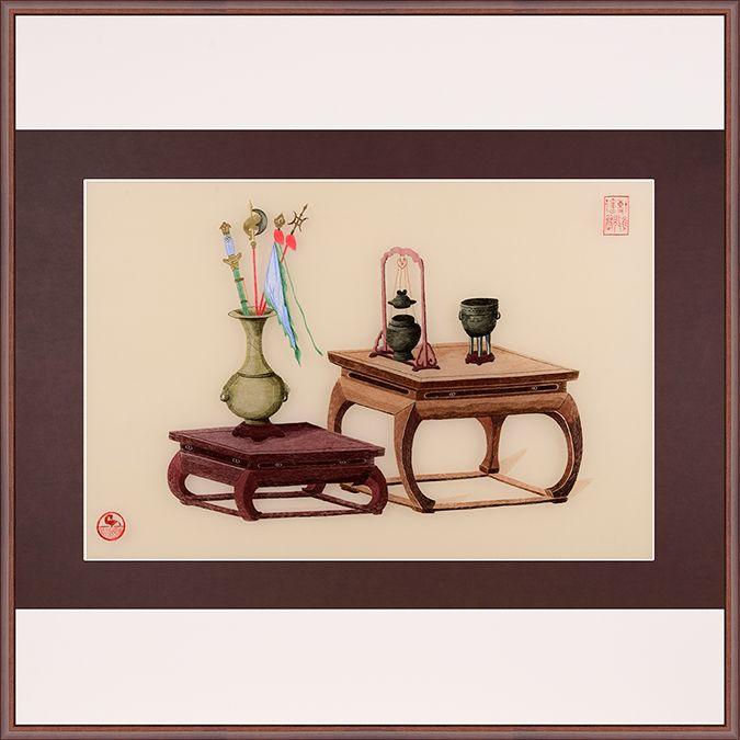 客厅办公室书房 静物 纯手工刺绣  75*75cm