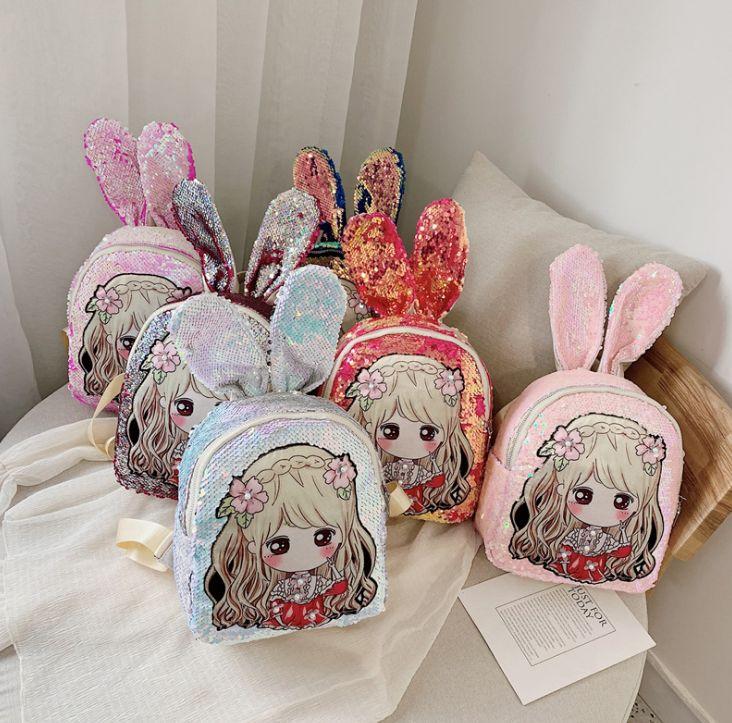 新款韩版时尚儿童亮片双肩包时尚潮流卡通可爱女孩款儿童背包