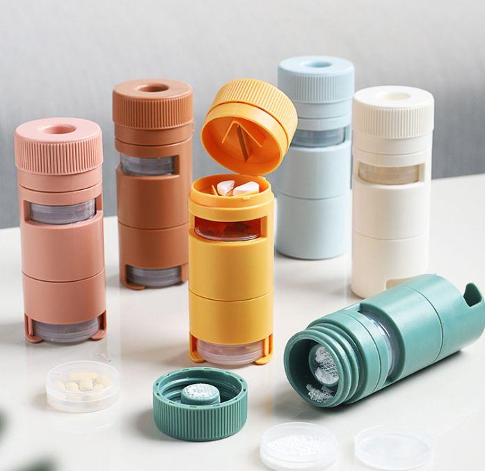 7分格ABS塑料迷你随身便携式分装药盒 一周旅游收纳药丸盒急救盒