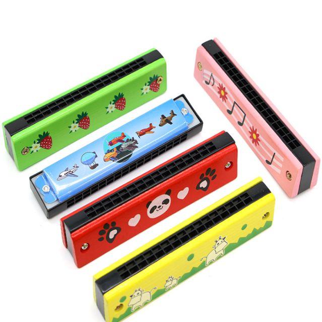 木制儿童口琴 铁皮彩绘口风琴 幼儿16孔早教儿童乐器礼品创意玩具