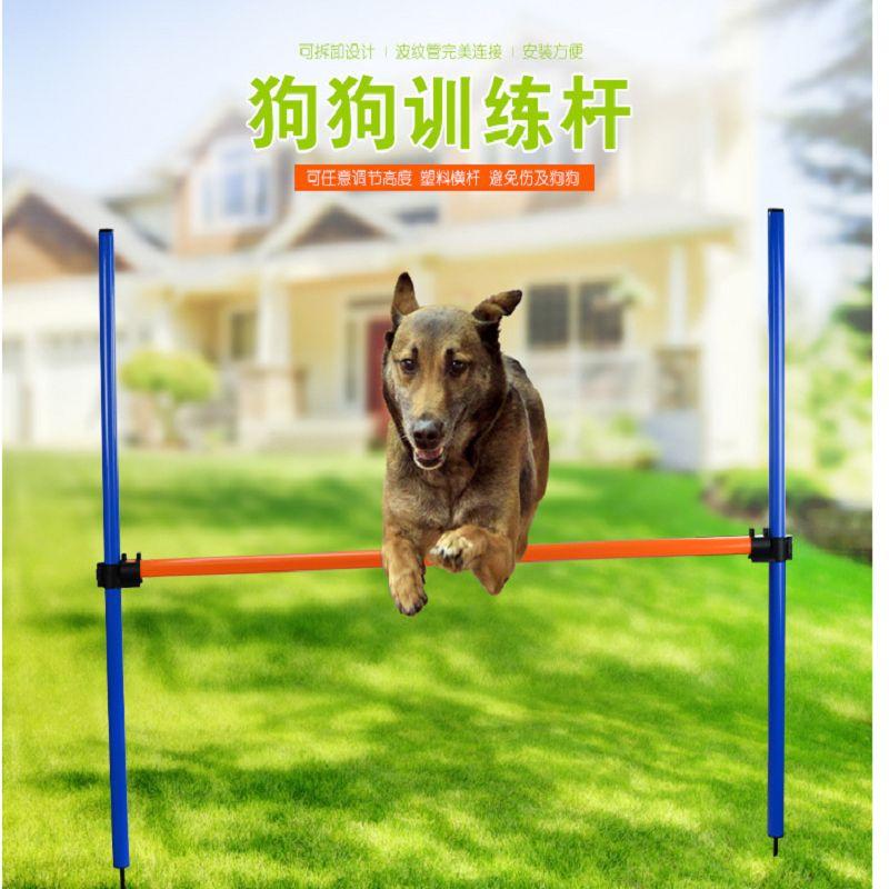 亚马逊新款即插即用式宠物玩具训狗跨栏 狗跳栏敏捷训练器