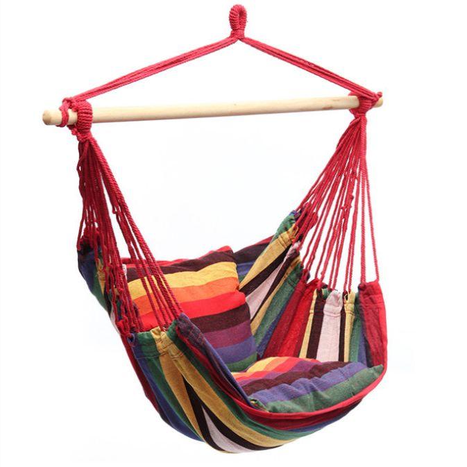 带靠垫秋千吊椅帆布