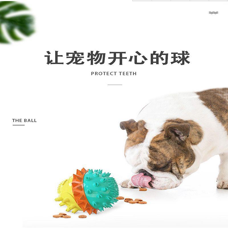 亚马新款狗狗玩具水上漂浮宠物牙刷带响声啃咬磨牙漏食球玩具