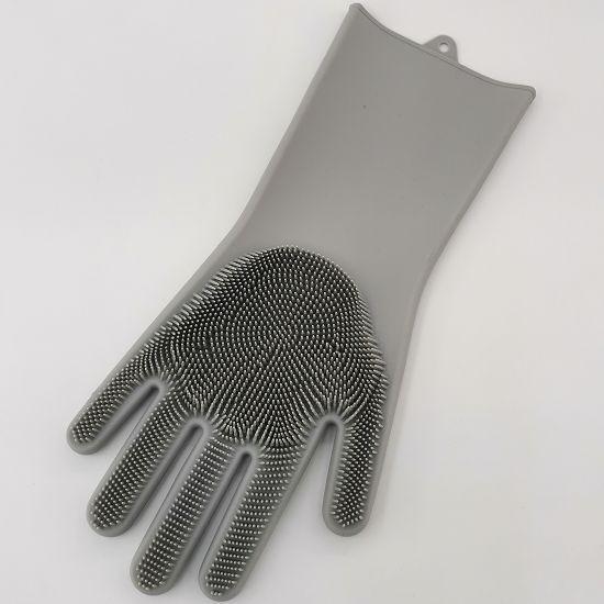 硅胶清洁手套洗碗洗锅网红多功能清洁洗刷起沫快清洁刷手套一体式