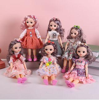 30cm关节可动的天舒玩具能换装的洋娃娃过家家小孩玩偶人偶