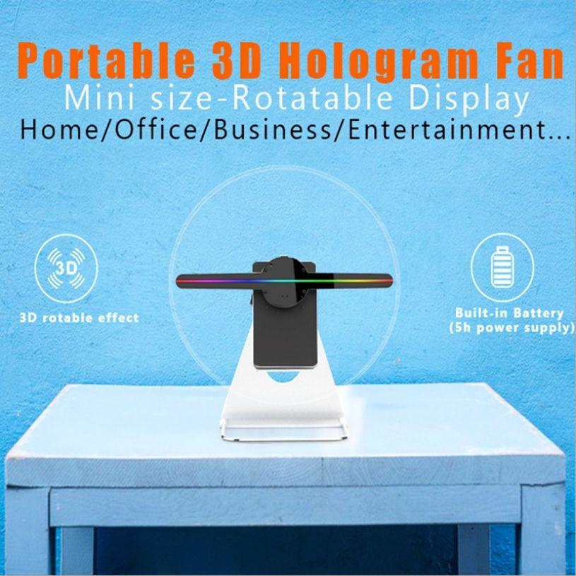 台式裸眼3d广告机 桌面立式风扇屏 户外显示器