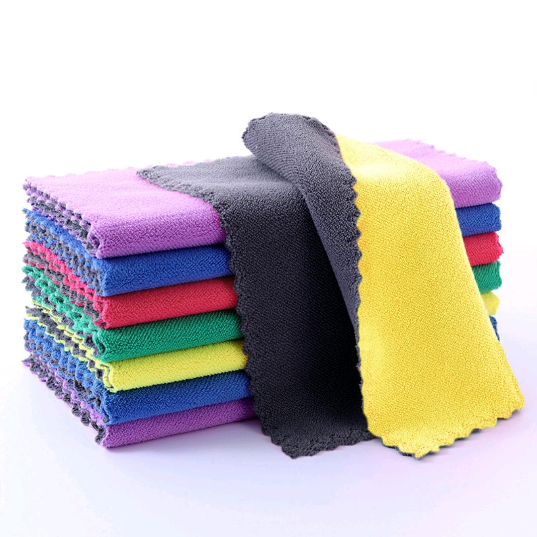 珊瑚绒抹布 吸水速干家用清洁巾百洁布 厨房不沾油双面洗碗巾