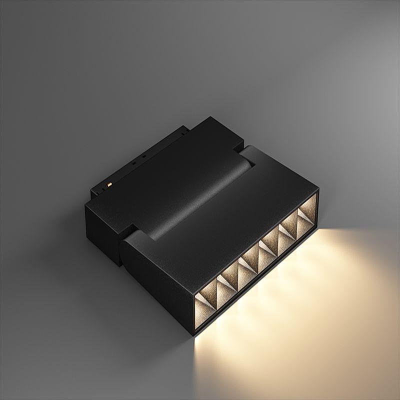 LED无主磁吸折叠灯轨道灯 6珠白暖光折叠射灯无边框线条灯