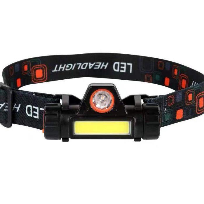 跨境感应 USB充电头戴灯强光手电筒磁铁露营灯LED头灯户外 钓鱼灯