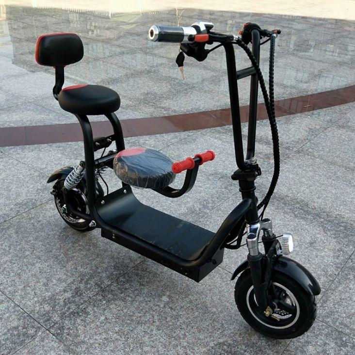 女士电动车成人迷你电动自行车锂电折叠电瓶车小哈雷电动滑板车