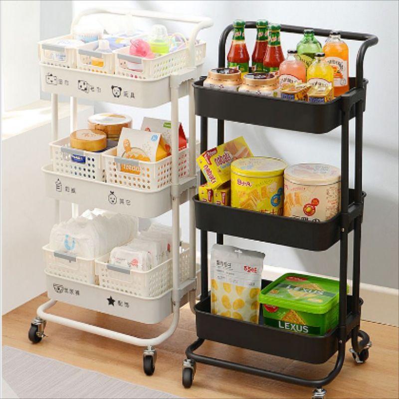 置物架小推车 移动简易厨房整理架子客厅