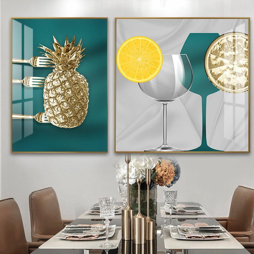 铝合金晶瓷晶贝现代餐厅画5️⃣