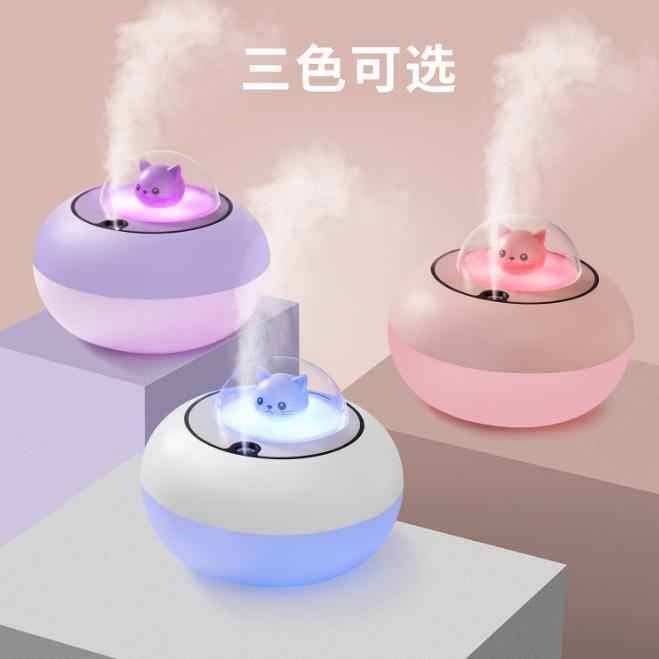 新款萌宠加湿器 创意USB家用静音加湿器 桌面办公补水喷雾雾化器