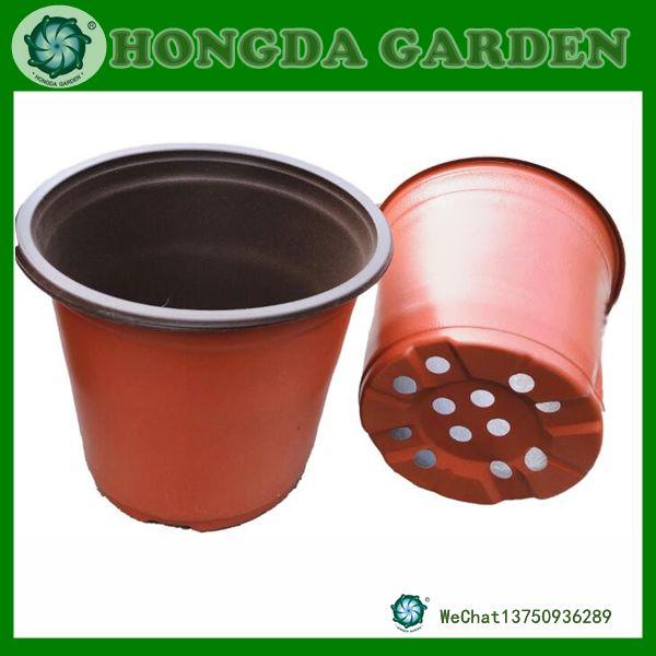 双色盆加厚育苗盆营养钵一次性塑料花盆移植盆草莓多肉育苗盘穴盘
