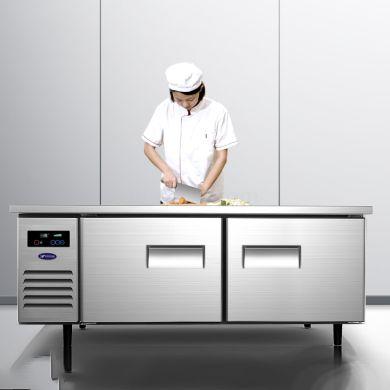 银都奶茶店设备平冷操作台商用冰箱冷冻保鲜冷藏柜工作台水吧冰柜