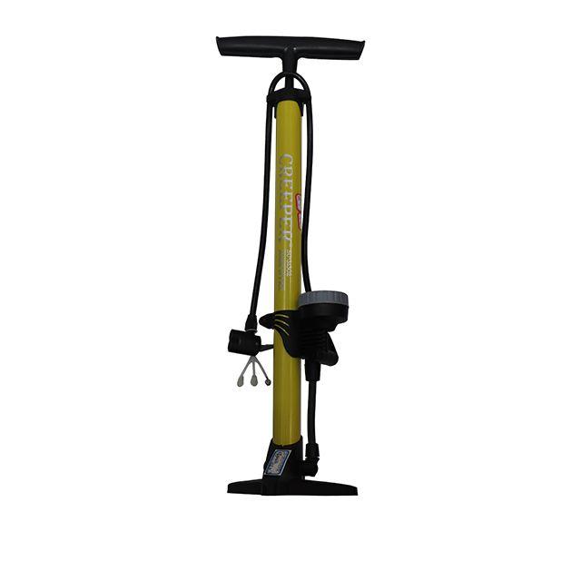 最高气压 110PSI/8BAR • 防滑塑料底座 • 多功能气嘴 • 落地式钢管打气筒