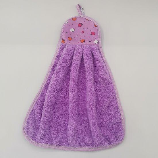 卡通擦手巾随机混花色珊瑚绒可挂式吸水性强厨房浴室挂巾清洁抹布