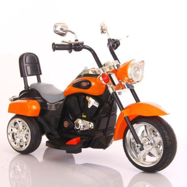 儿童电动摩托车小孩警车哈雷大号男女宝可坐骑三轮电瓶车出口