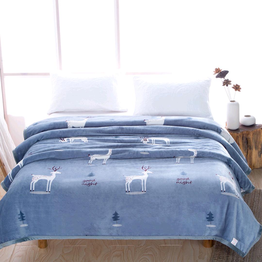 义乌好货云貂绒毛毯礼品毯加厚毛毯 云貂绒毯 家用空调毯