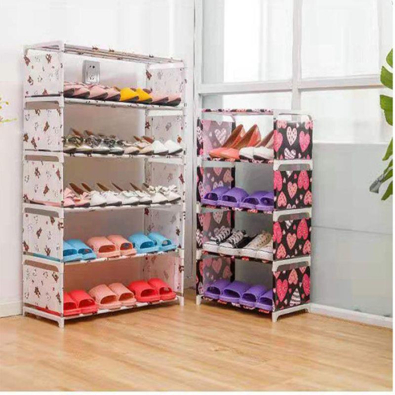 新款拼装五层层鞋架 家用组装无纺布鞋架 收纳鞋架批发厂家直销