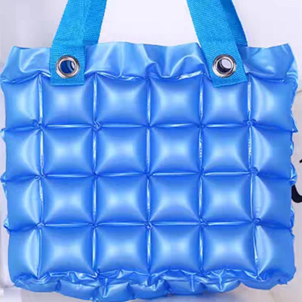 8充气防水袋手提包沙滩泡泡收纳包女士果色逛街购物袋