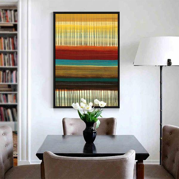 意式极简抽象手绘油画轻奢客厅玄关挂画沙发背景走廊装饰画简约画