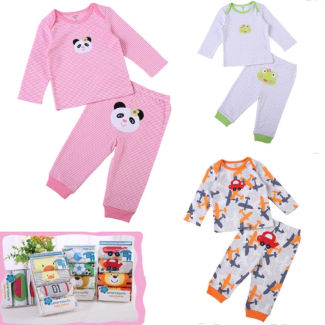 纯棉婴儿套装长袖T恤+PP长裤0-1岁宝宝2套装