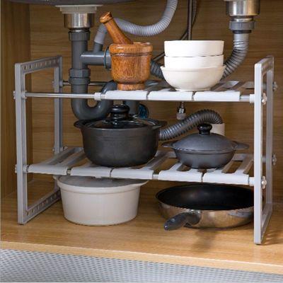 T2023厨房伸缩水槽下置物架