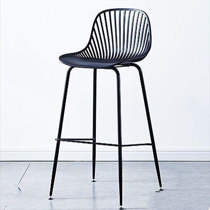 吕字家具-厂家直销吧台椅高脚凳北欧式塑料酒吧椅子家用桌靠背吧凳