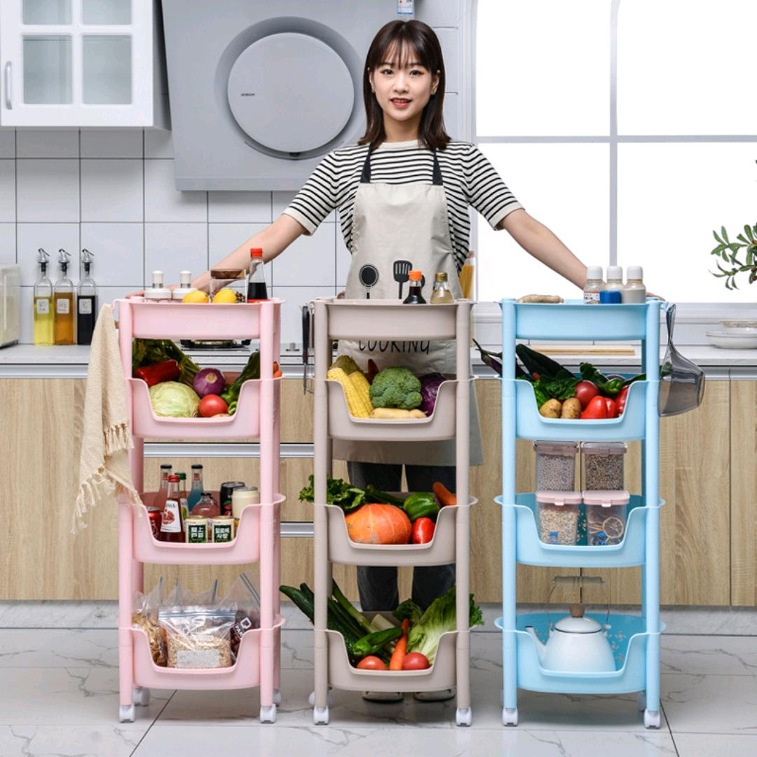 W16-2338含菜盒置物架厨房塑料蔬菜水果整理架浴室毛巾置物架