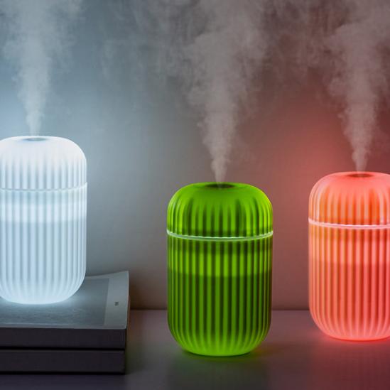 新款仙人指加湿器 USB迷你夜灯补水仪 便携式家用保湿加湿器
