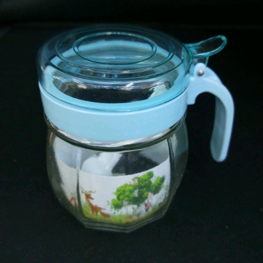 X44-1172调味罐调味品盒玻璃盐罐佐料味精收纳盒厨房材料罐