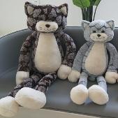 梦幻毛绒玩具酷吉猫1号90厘米呆萌毛绒玩具公仔毛绒抱枕玩具