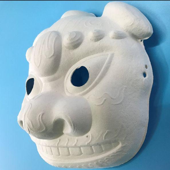 一次性纸浆面具DIY创作个性手工绘画瑞兽面具绘画玩具