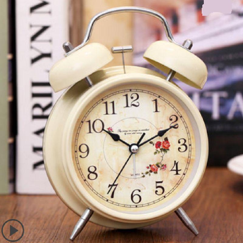 超大声小闹钟学生用床头静音夜光简约儿童创意时钟卧室钟表闹铃