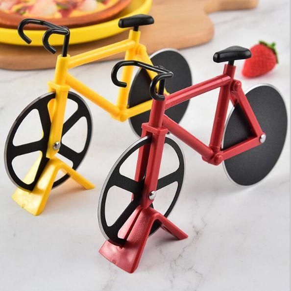 创意不锈钢双轮披萨刀披萨滚轮切刀