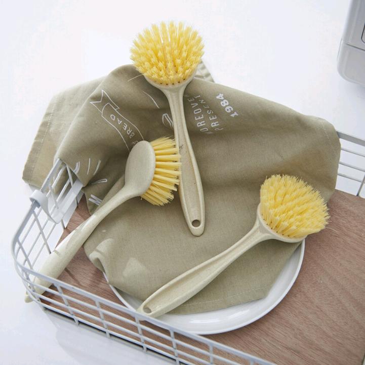 Z22-5554淘宝爆款热卖塑料清洁刷洗锅刷素色麦秆多功能刷