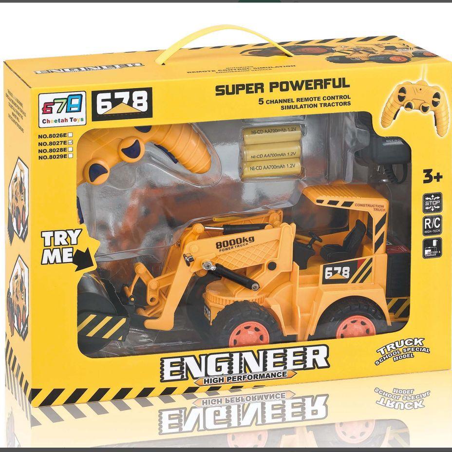 8027E (包电)开窗盒儿童多功能多趣味遥控工程车