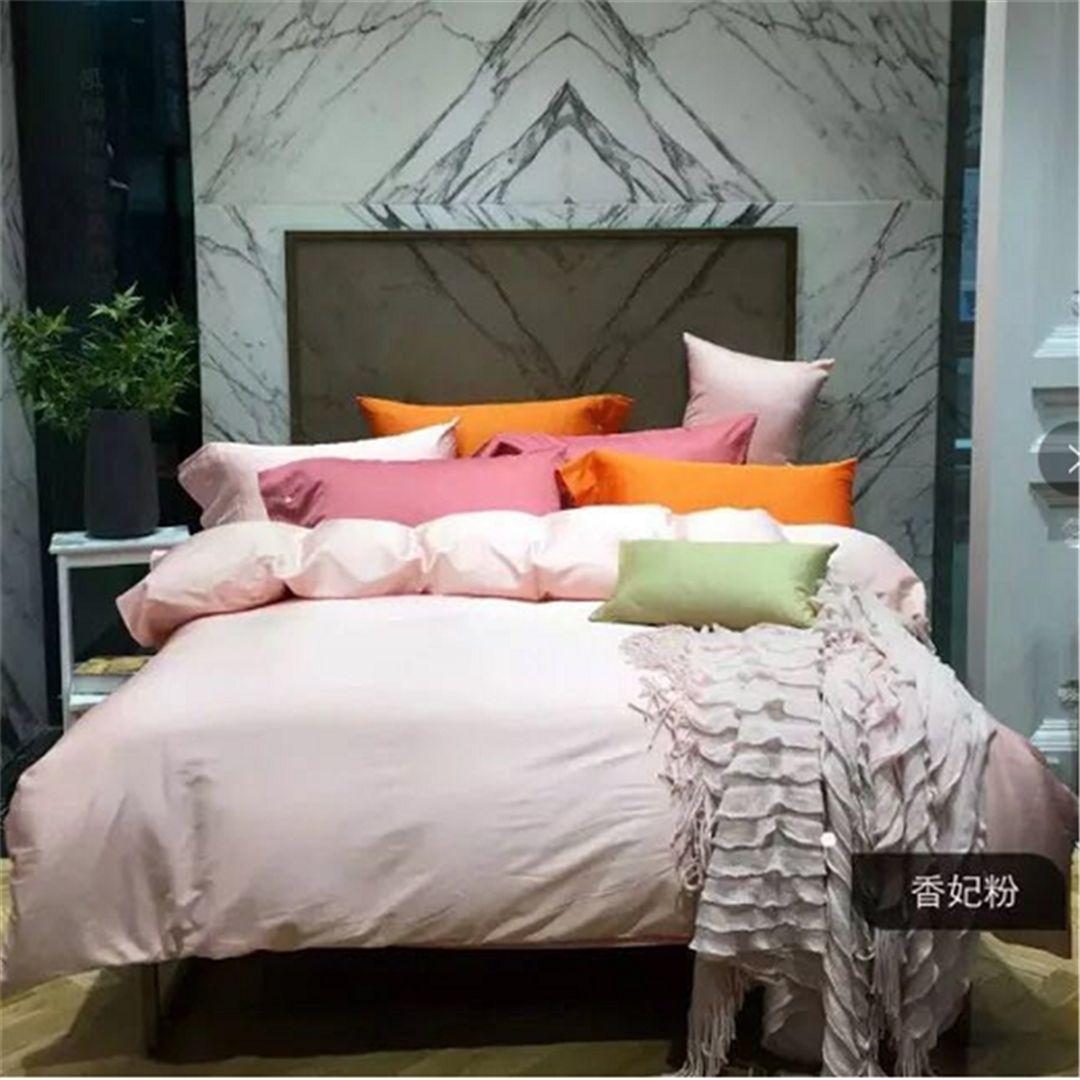 酒店宾馆民宿客房布草 纯色 100支 床上用品 布草四件套 酒店床品