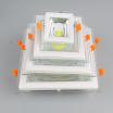 COB方形玻璃面板灯:10W:面经Q160:开孔尺寸Q120:单色:220V