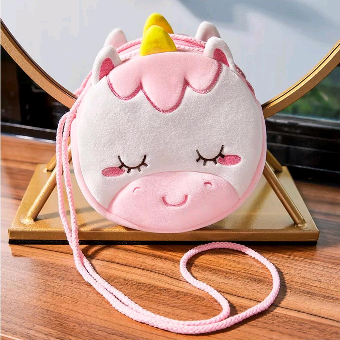 18cm棉绳独角兽挎包儿童斜挎包精品小包包爆款儿童可爱小背包