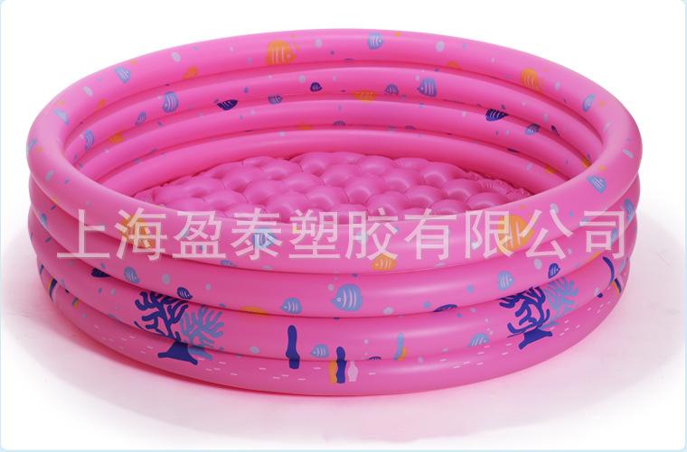 义乌好货 盈泰  厂家 现货 130cm 三环海洋印花球池 戏水池 泡泡加厚按摩底-1001/1316